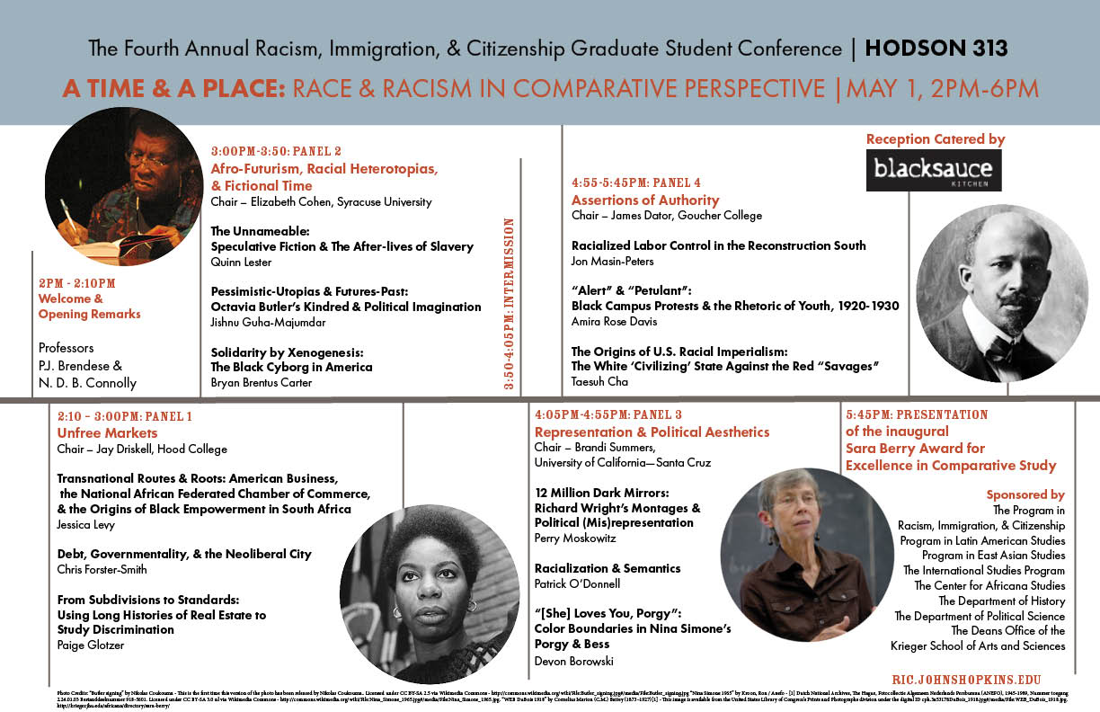 A Time and A Place Graduate Conference in Race and Racisms
